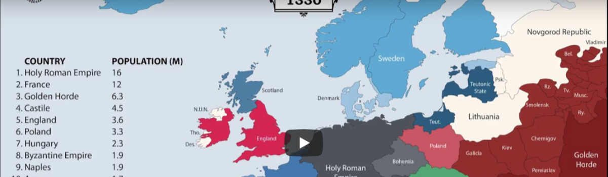 Animated Map: 2,400 Years of European History