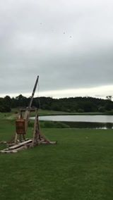 Slo-mo of our Trebuchet being shot at Leeds Castle 2019...