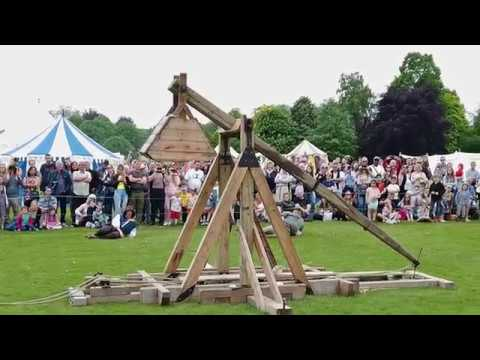 Festival event that includes music, jousting, trebuchet...